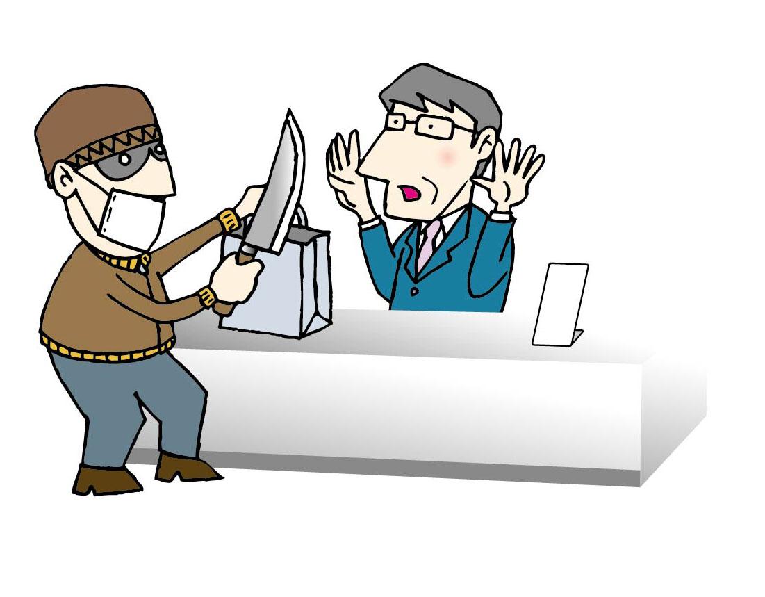 强盗卡通图矢量图